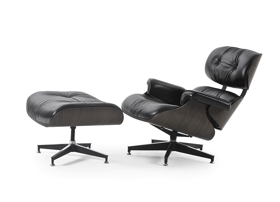 Poltrona Charles Eames com Puff - OFF